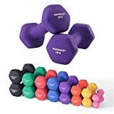 SONGMICS Set of 2 Dumbbells Weights Vinyl Coating Gym and Home Workouts Waterproof and Non-Slip with Matte Finish 2 x 2 kg SYL64PL