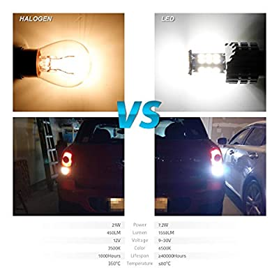 2020 Newest,1156 led reverse lights,LUYED 2 X 1550 Lumens Extremely Bright 1156 BA15S 1003 1141 7506 3030 24-EX Chipsets LED Bulbs Used For Backup Reverse Lights, Xenon White: Automotive
