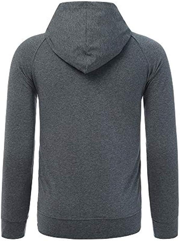 FRAUIT męska bluza z kapturem z długim rękawem, sportowa, bawełniana, 100% bawełna, oddychająca, miękka, wygodna, sportowa, do noszenia w czasie wolnym: Odzież