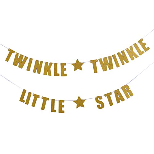Tinksky TWINKLE TWINKLE LITTLE STAR Banner Baby Shower Birthday Party Decoration (Twinkle Birthday)