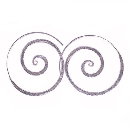 Thai Number 1 Coil Earring Silver By Karen Hilltribe