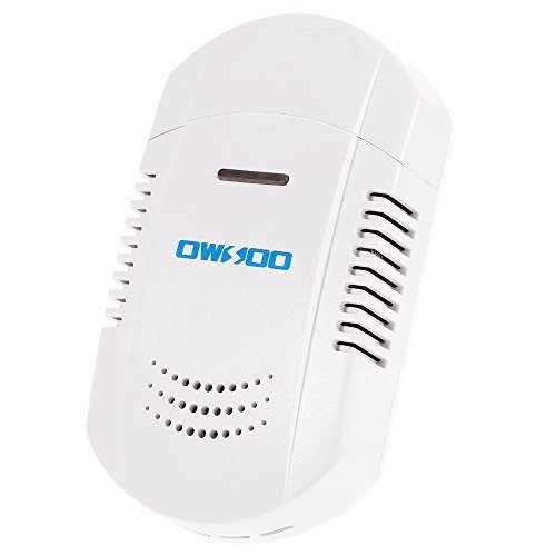 Combustible Detection Gas (OWSOO 433MHz Plug-In Combustible Gas Leakage Detector Flash & Strobe Alarm Sensor for Home House Security Alarm System)
