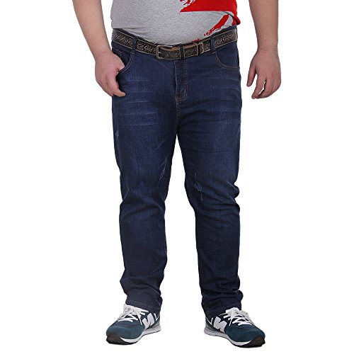 5b6562b4977 70%OFF Allonly Casual Relax Fit Straight Leg Stretch Jeans For Men Plus  Size Big