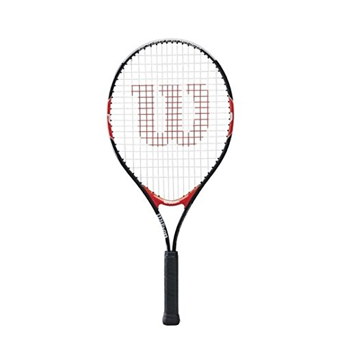 Wilson Federer Junior Tennis Racquet, Black/Red, 25-Inch