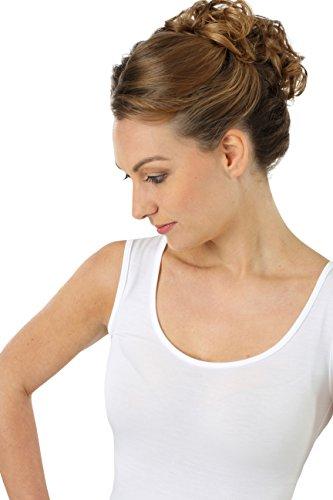 ALBERT KREUZ camiseta interior de tirantes para mujer con cuello redondo extra-profundo, de MicroModal Light muy suave, ligero y elástico, color blanco