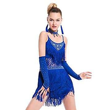 Vestido azul con fucsia