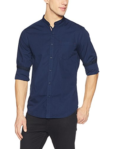 Locomotive Men #39;s Solid Slim Fit Casual Shirt