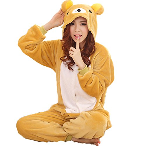 Zerlar-Pajamas-Animal-Costume-Onesie-Adults-Sleepwear-Kigurumi-Cosplay-Rilakkuma