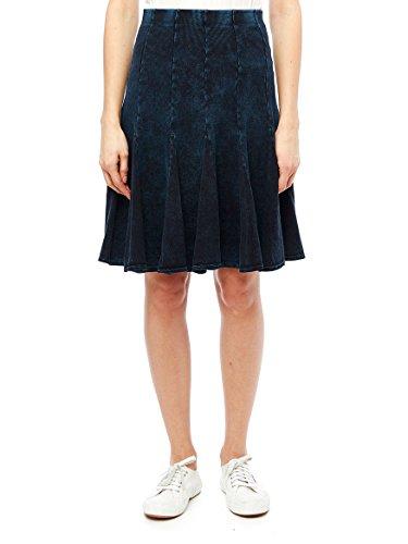 Fit And Flare Denim Skirt (Fit-N-Flare Ribbed Skirt M Dark Wash Denim)