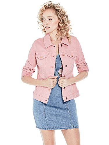 GUESS Factory Womens Alisana Pigment-Dyed Denim Jacket