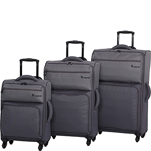 IT Luggage  Duotone 4 Wheel 3 Pc Set, Pewter/Magnet by IT Luggage