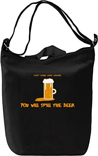 Don't drink while driving Borsa Giornaliera Canvas Canvas Day Bag| 100% Premium Cotton Canvas| DTG Printing|