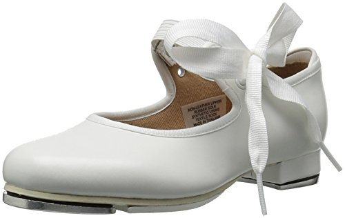 Bloch Dance Annie Tyette Tap Shoe (Toddler/Little Kid/Big Kid),White,7.5 M US Big Kid (And Tap Black Shoes White Womens)
