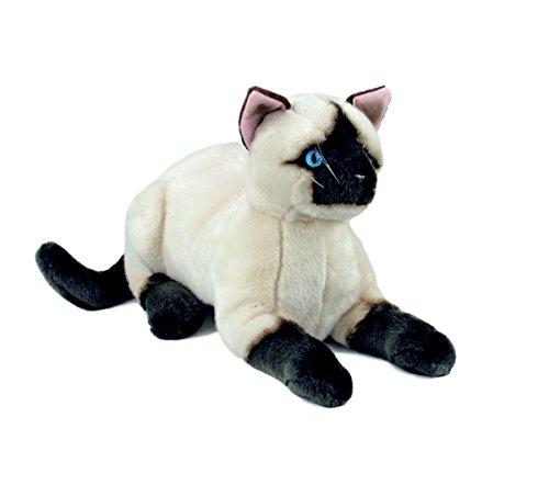 (Bocchetta Plush Toys Siamese Sealpoint Cat/Kitten Crouching Soft Plush Toy - Amelia Medium)