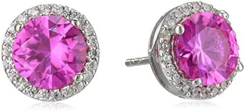 Sterling Silver Cubic Zirconia Accents Stud Earrings