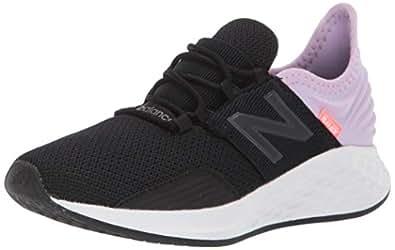 New Balance ROAV Roav Fresh Foam Running Shoes for Kid's, Black/Purple, 1 US