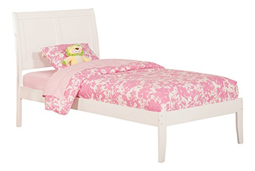 Atlantic Furniture Portland Twin Platform Bed with Open Foot