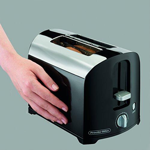 Proctor Silex 22622 2-Slice Toaster Black/Silver