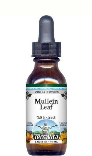 Mullein Leaf Glycerite Liquid Extract (1:5) - Vanilla Flavored (1 oz, ZIN: 513127)