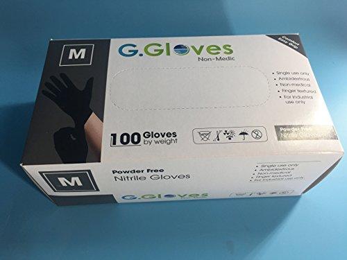 Black Nitrile Disposable Gloves - box