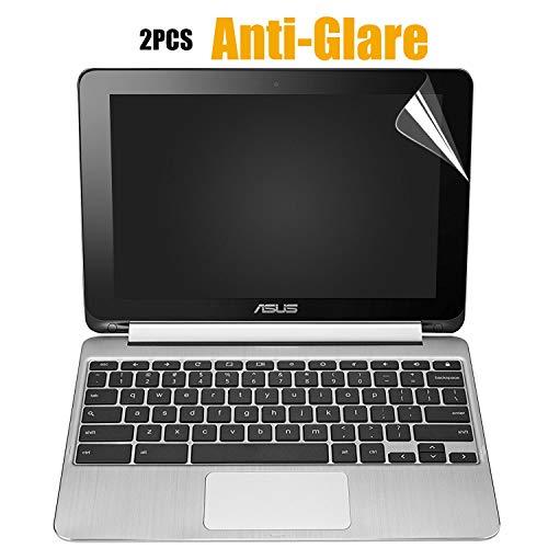 [2PCS Pack] ASUS Chromebook Flip Anti-Glare Matte Screen Protector Cover Skin for ASUS C100 C100PA C100PA-DB02 Chromebook Flip 10.1 Convertible 2-in-1 Touchscreen(2Pieces/Pack)