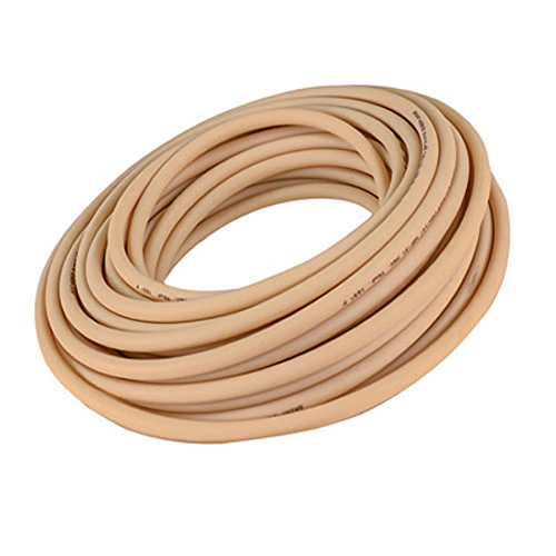 Soft Beige Opaque Abrasion-Resistant Gum Rubber Tubing for Air and Water - Inner Diameter 1-1/4'' - Outer Diameter 1-3/4'' - 5 ft by Gordon Glass Co.