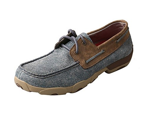 Twisted X Casual Mens Shoes Mens Casual D Toe Driving Mocs 9 M Blue Bomber MDM0056 B074BRHYP5 Shoes ad7993