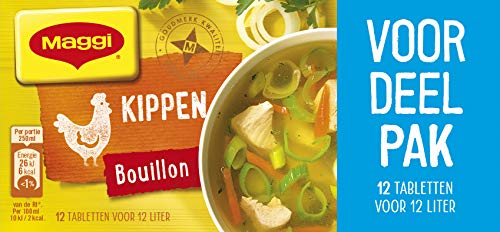 Maggi Kippenbouillon blokjes – Voordeelverpakking – 20 Doosjes Met 12 Bouillonblokjes