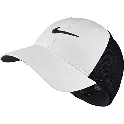 Nike Golf CLOSEOUT Legacy 91 Tour Mesh Fitted Hat (Black/White) 727031-011 - Black Express 011