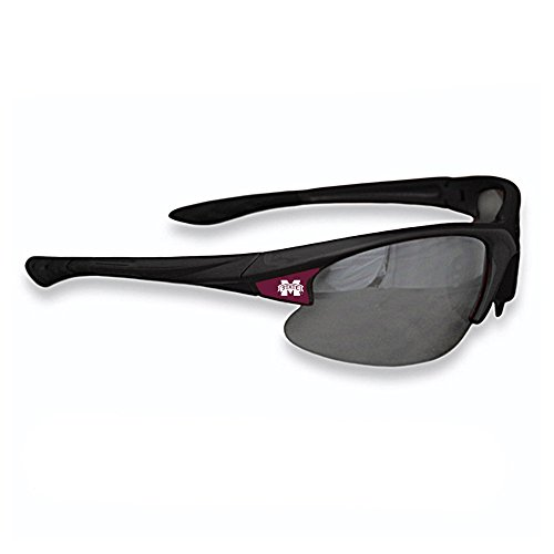 Mississippi State Bulldogs Team Glass - Purchadise NCAA Black Elite Sunglasses - UVA and UVB Protection-Many Teams! (Mississippi State Bulldogs)