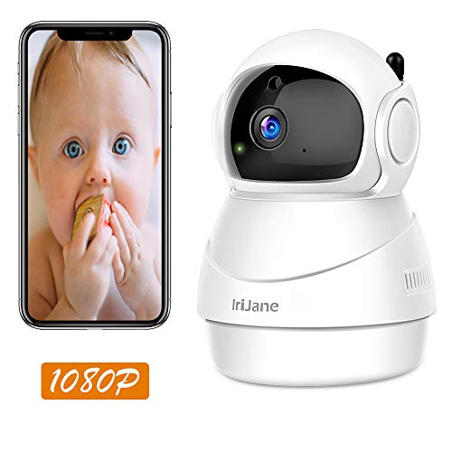 Cheap WiFi IP Camera, Pan/Tilt/Zoom IriiJane 1080P HD Wireless Security Camera for Home Surveillance with Remote Control Two-Way Audio Motion Detection and Night Vision.