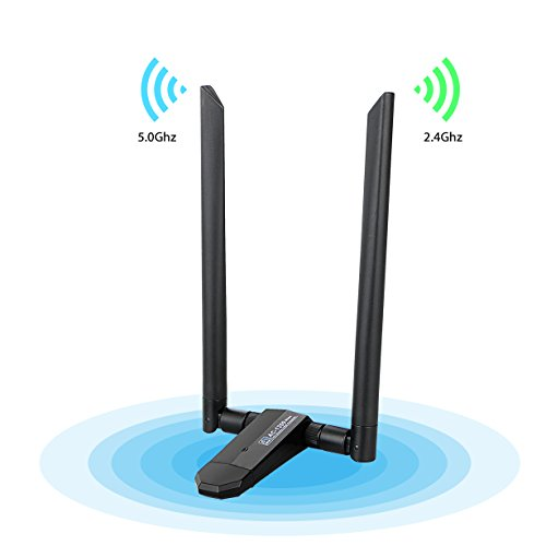 LinkStyle Long Range AC1200 Dual Band Wireless WiFi Adapter 5GHz Network Card Desktop Support Mac 10.4-10.12.5