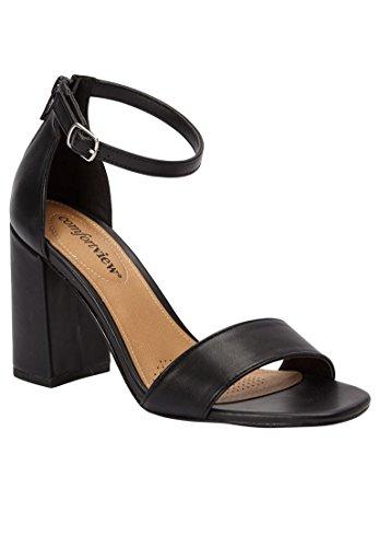 Comfortview Women's Wide Belle Sandals Black,12 W by Comfortview
