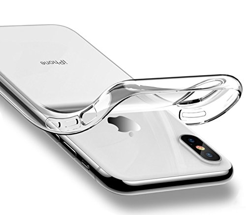 iPhone X 10 Case Crystal Clear Transparent Flexible Soft Gel Cover Shell Skin for Apple 5.8
