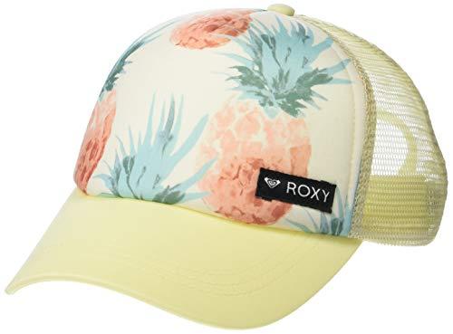 Roxy Girls' JUST OK HAT, Marshmallow Big Pineapple, 1SZ (Roxy Cap For Girls)