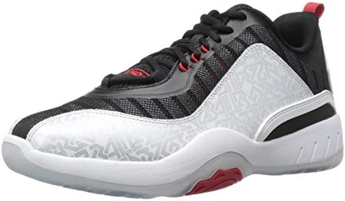 c333a7e709e6a AND1 Men's Vertical Basketball Shoe, Silver/Black/Red, 9.5 M US ...