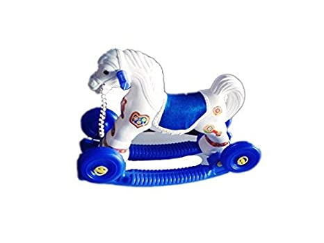 Buy Indian 2 In 1 Baby Horse Rider For Kids Years Birthday Gift Boys Girls Colour Multi White Blue Online At Low Prices India