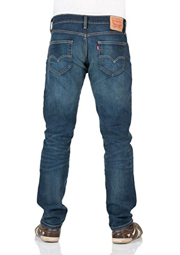 Levis Uomo 511 slim fit Crosstown Jeans, Blu Jeans Scuro