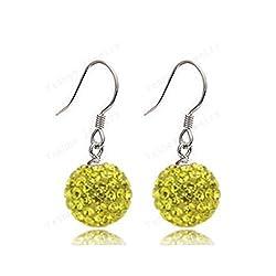 European Style 10mm Crystal Beads Earrings Crystal Drop Earrings For Women Christmas Gift