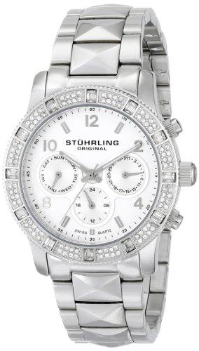 Stuhrling Original Women's 697.01 Symphony Nobilis Analog Display Swiss Quartz Silver Watch