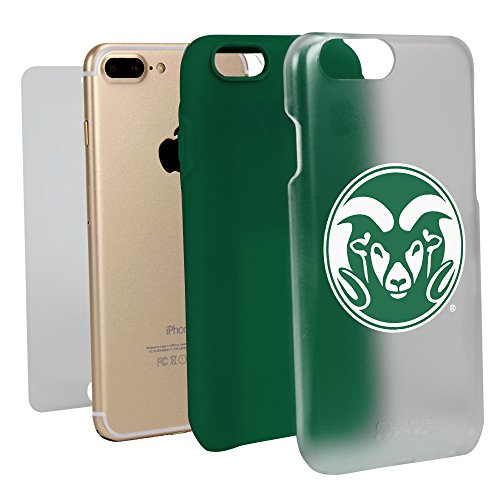 Colorado State Rams Hybrid Case for iPhone 7 Plus/8 Plus - Clear with Green by Guard Dog