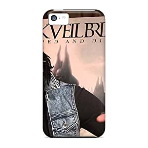 Durable Hard Cell-phone Cases For Iphone 5c (rzA14149ezyy) Support Personal Customs Fashion Black Veil Brides Band BVB Pattern