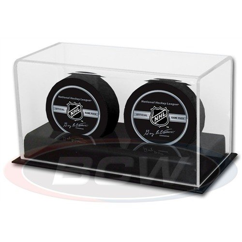 BCW 1-AD11-2 Acrylic Double Hockey Puck Display Case ()