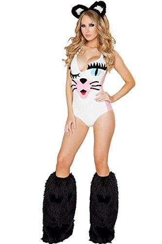Birth Costume Halloween (Adult Sexy Pretty Kitty Costume Halloween Cosplay Dress USA)
