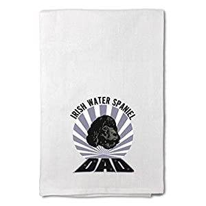 Style In Print Custom Decor Flour Kitchen Towels Dad Irish Water Spaniel Dog Pets Dogs Cleaning Supplies Dish Towels Design Only 22