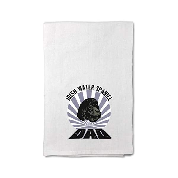 Style In Print Custom Decor Flour Kitchen Towels Dad Irish Water Spaniel Dog Pets Dogs Cleaning Supplies Dish Towels Design Only 1