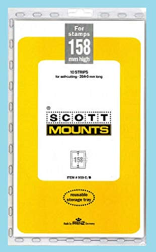 Scott or Prinz 158x265 Clear Stamp Mounts Scott # - Mounts Stamp Clear