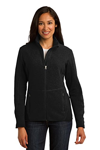 Port Authority Ladies R-Tek Pro Fleece Full-Zip Jacket M Black/ Black