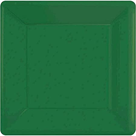 7 Party Supply Festive Green Square Paper Plates Pack of 20