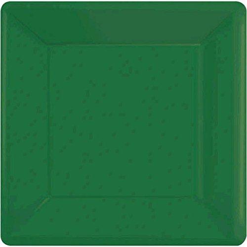 Festive Green Square Paper Plates | 7
